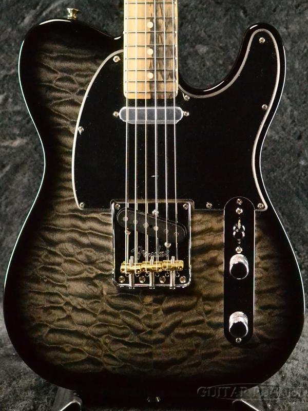 【国内限定6本!!】Fender USA Limited Edition American QMT Telecaster/Pale Moon Ebony 新品[フェンダー][リミテッドエディション][テレキャスター][Black,ブラック,黒][Electric Guitar,エレキギター]