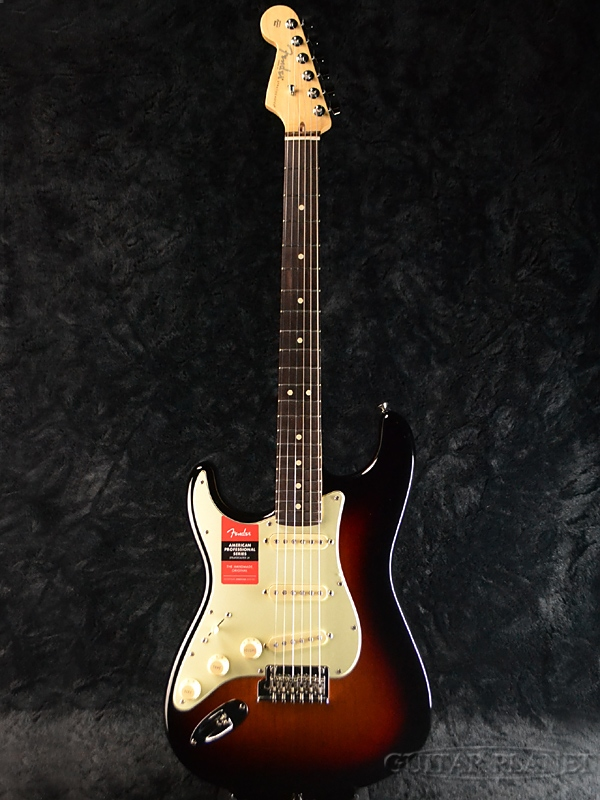 Fender USA American Professional Stratocaster Left Hand -3CS / RW- 新品[フェンダー][アメリカンプロフェッショナル][サンバースト][ストラトキャスター][Electric Guitar,エレキギター]