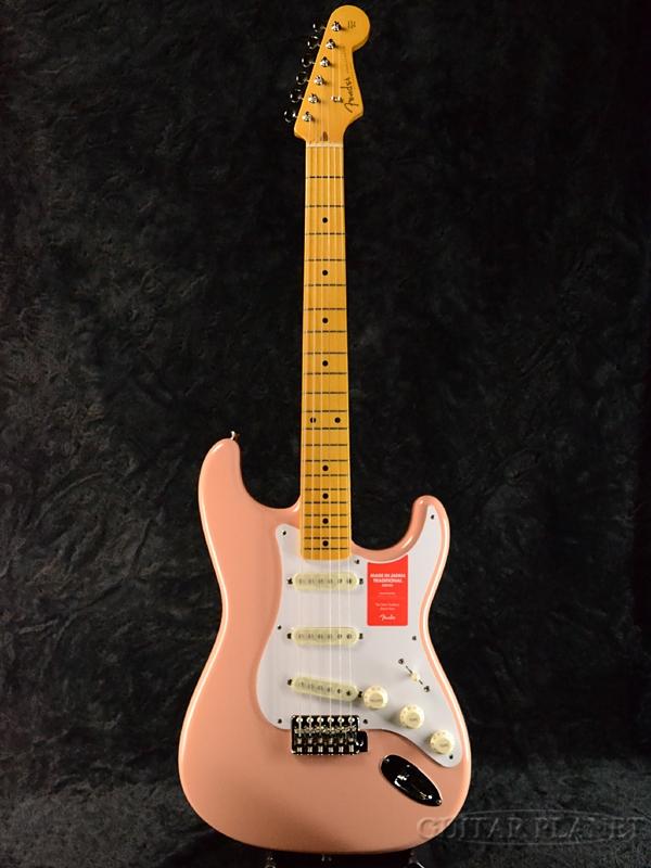 Fender Made In Japan Traditional 58 Stratocaster Flamingo Pink 新品 《レビューを書いて特典プレゼント!!》[フェンダージャパン][トラディショナル][フラミンゴピンク][ストラトキャスター][Electric Guitar,エレキギター]