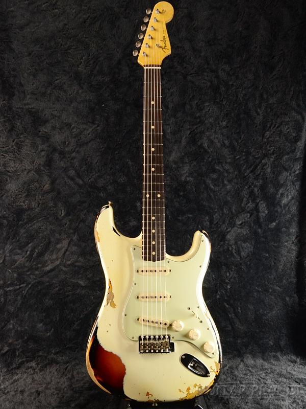 【7月限定大特価!!】Fender Custom Shop ''Spec.Piece'' 1960 Stratocaster Heavy Relic -Vintage White over Sunburst- 新品[フェンダーカスタムショップ][ストラトキャスター][ヴィンテージホワイトオーバーサンバースト,白][Electric Guitar,エレキギター]