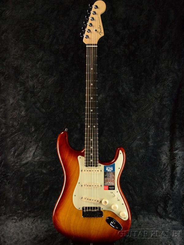 ●日本正規品● Fender USA American Elite Stratocaster - Tobacco Sunburst/ Ebony- 新品[フェンダー][アメリカンエリート][タバコサンバースト][ストラトキャスター][Electric Guitar,エレキギター], コトブキ無線CQショップ 53c9b2dd