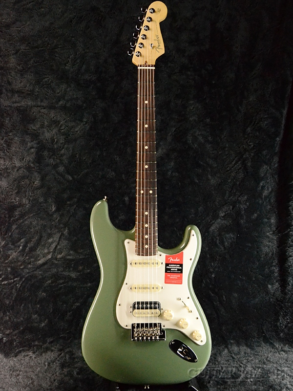 Fender USA American Professional Stratocaster HSS Shawbucker -Antique Olive / Rose- 新品[フェンダー][アメリカンプロフェッショナル,アメプロ][アンティークオリーブ,緑][ストラトキャスター][Electric Guitar,エレキギター]