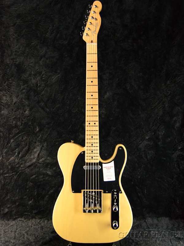 Fender Made In Japan Hybrid 50s Telecaster Off White Blonde 新品 《レビューを書いて特典プレゼント!!》[フェンダージャパン][ハイブリッド][オフホワイトブロンド,白,黄][テレキャスター][Electric Guitar,エレキギター]