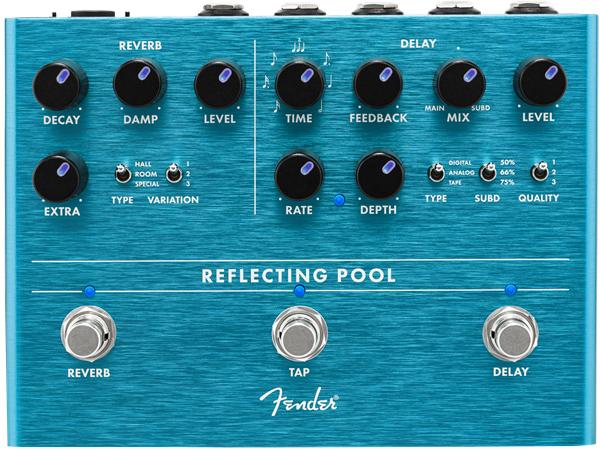 Fender Reflecting Pool Delay & Reverb 新品 ディレイ、リバーブ[フェンダー][Effector,エフェクター,ペダル]