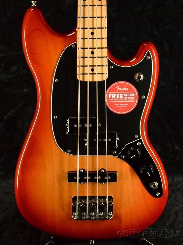 Fender Player Mustang Bass PJ -Sienna Sunburst / Maple- 新品 [フェンダーメキシコ][プレイヤー][ムスタングベース][Red,サンバースト,レッド,赤][メイプル][エレキベース,Electric Bass]