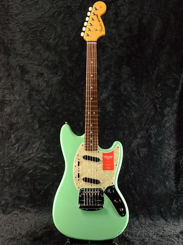 Fender Made In Japan Traditional 70s Mustang Surf Green 新品《レビューを書いて特典プレゼント!!》[フェンダージャパン][トラディショナル][サーフグリーン,緑][ムスタング][Electric Guitar,エレキギター]