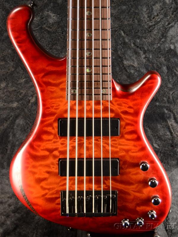 Freedom Dulake Flat 6st -17:40- 新品[フリーダム][国産][6strings,6弦][Red,レッド,赤][Electric Bass,エレキベース]