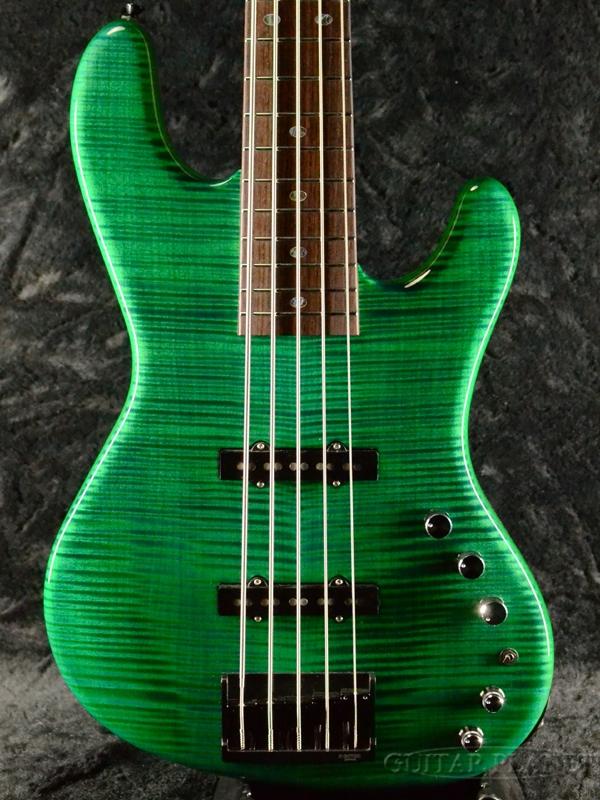 【木材選定品!】Freedom Rhino 5st -木霊 (KDM)- 新品[フリーダム][ライノ][国産][Green,グリーン,緑][5strings,5弦][ジャズベース][Electric Bass,エレキベース]