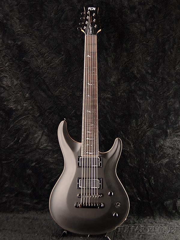 FUJIGEN EEL-DE-7 MBK 新品[フジゲン,富士弦][国産][7弦][Black,ブラック,黒][Stratocaster,ストラトキャスタータイプ][Electric Guitar,エレキギター]