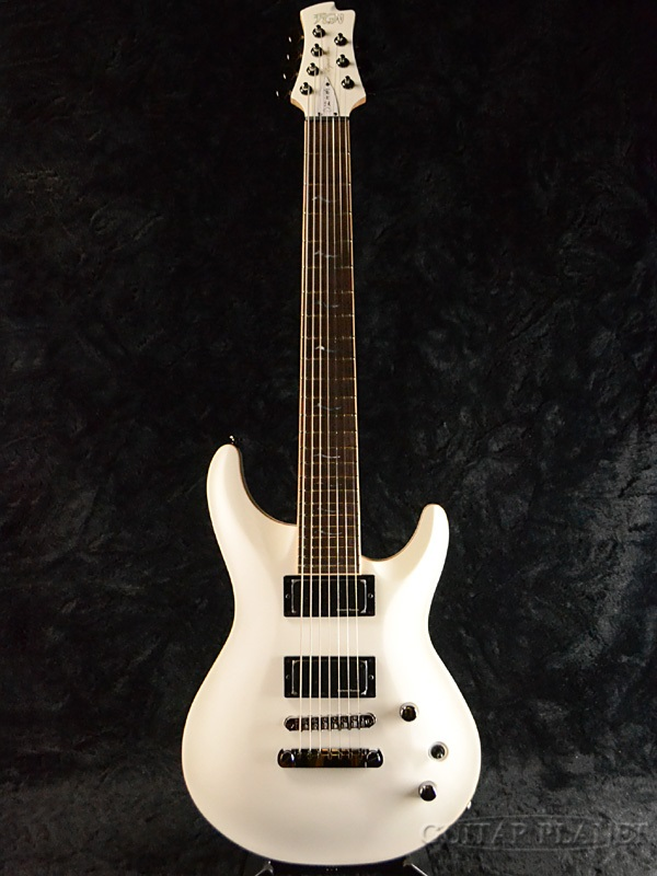 FUJIGEN EEL-DE-7 MWH 新品[フジゲン,富士弦][国産][7弦][Active][White,ホワイト,白][Electric Guitar,エレキギター]