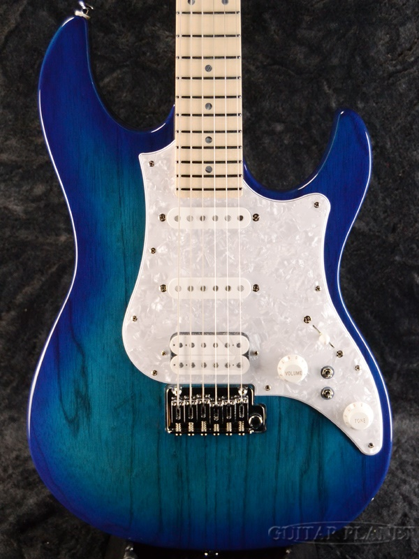 FUJIGEN EOS-ASH-M SBB 新品[フジゲン,富士弦,FgN][国産][Blue,ブルー,青][Electric Guitar,エレキギター]