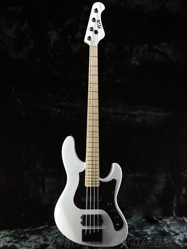 FgN(FUJIGEN) JMJ-ASH-DE-M -Transparent White Flat- 新品[フジゲン,富士弦][国産][EMG Pickup搭載][Active,アクティブ][トランスホワイトフラット,白][Jazz Bass,ジャズベースタイプ][Electric Bass,エレキベース]