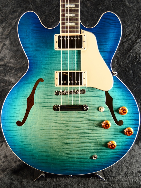 Gibson Memphis ES-335 Figured 2018 -Aquamarine- #10588704[ギブソン][メンフィス][ES335][アクアマリン,青][セミアコ][Electric Guitar,エレキギター]
