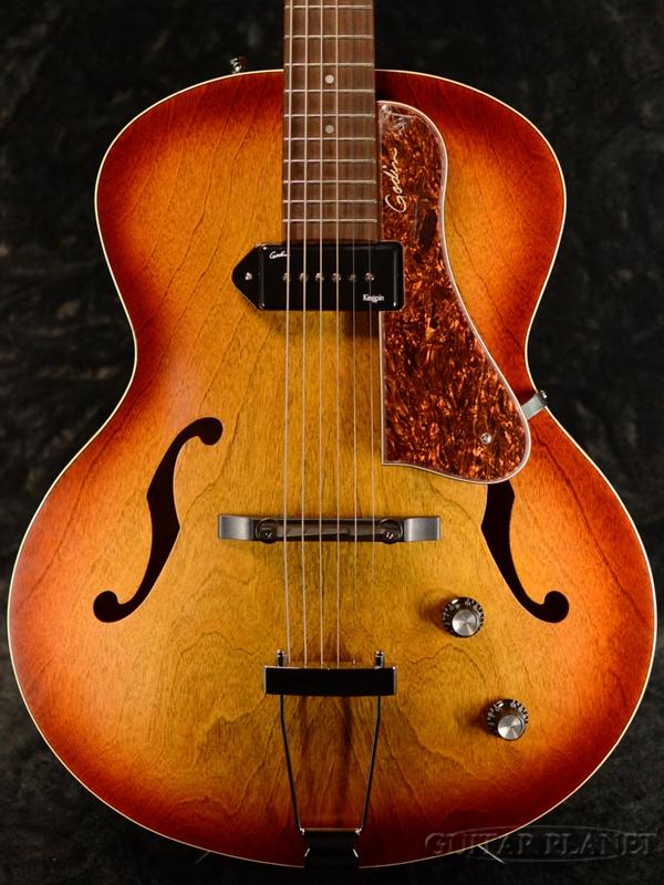 Godin 5th Avenue Kingpin -Cognac Burst- 新品 [ゴダン][アベニューキングピン][コニャックバースト,サンバースト][フルアコ][Electric Guitar,エレキギター]