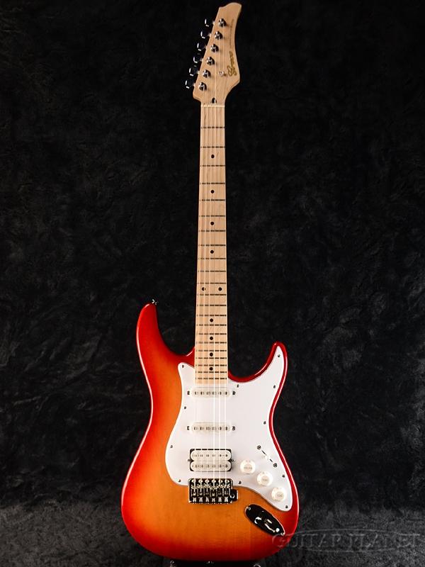 【ERNIE BALL4点セット付】Greco WS-STD SSH Cherry Burst/Maple 新品[グレコ][国産][チェリーバースト][Stratocaster,ST,ストラトキャスタータイプ][Electric Guitar,エレキギター]
