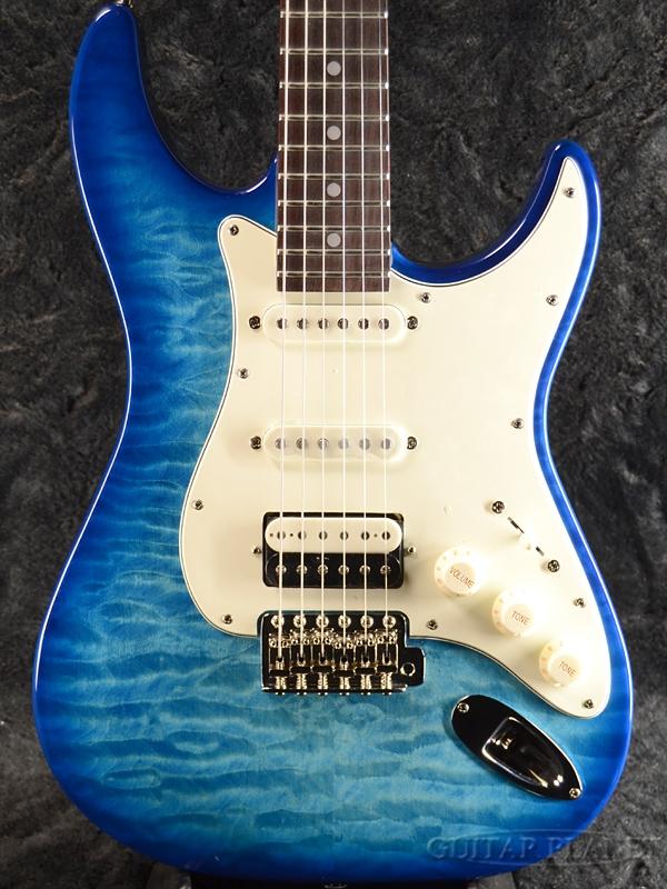 【ERNIE BALL4点セット付】Greco WS-QT/SSH AQB/Rosewood 新品[グレコ][国産][Blue,ブルー,青][Stratocaster,ストラトキャスタータイプ][Electric Guitar,エレキギター]