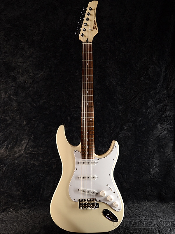 【ERNIE BALL4点セット付】Greco WS-STD Aged White/Rosewood 新品 [グレコ][国産][エイジドホワイト,白][Stratocaster,ST,ストラトキャスタータイプ][Electric Guitar,エレキギター]