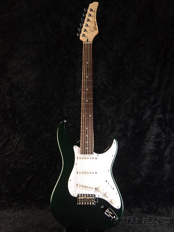 【ERNIE BALL4点セット付】Greco WS-STD Dark Green/Rosewood 新品 [グレコ][国産][ダークグリーン,緑][Stratocaster,ST,ストラトキャスタータイプ][Electric Guitar,エレキギター]