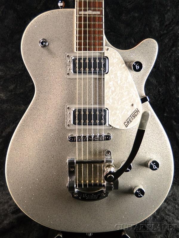 【アーニー弦3セット付】Gretsch Electromatic G5439T Pro Jet w/Bigsby 新品 シルバースパークル[グレッチ][エレクトロマチック][プロジェット][ビグスビーアーム搭載][Silver Sparkle,銀][Electric Guitar,エレキギター]