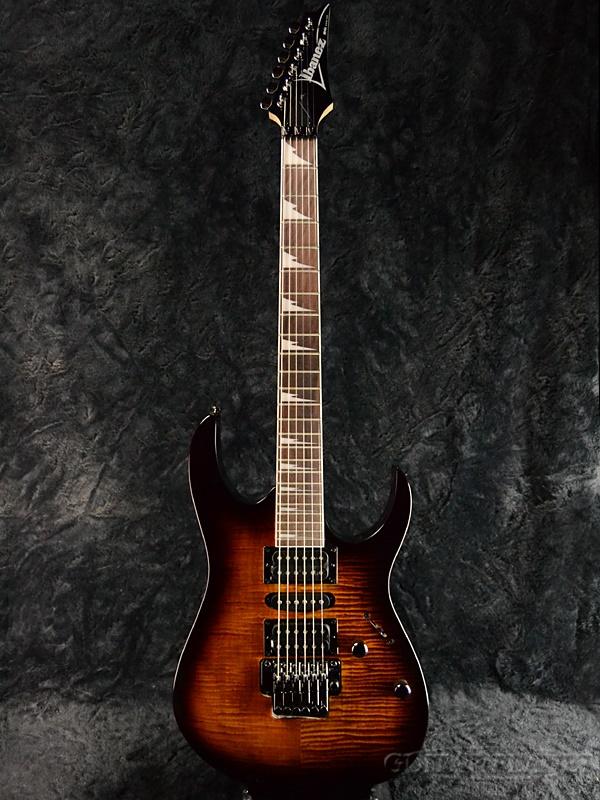 Ibanez RG370FMZ-Caramel Brown Burst 新品[アイバニーズ][RGシリーズ][キャラメルブラウンバースト][Stratocaster,ストラトキャスタータイプ][Electric Guitar,エレキギター]