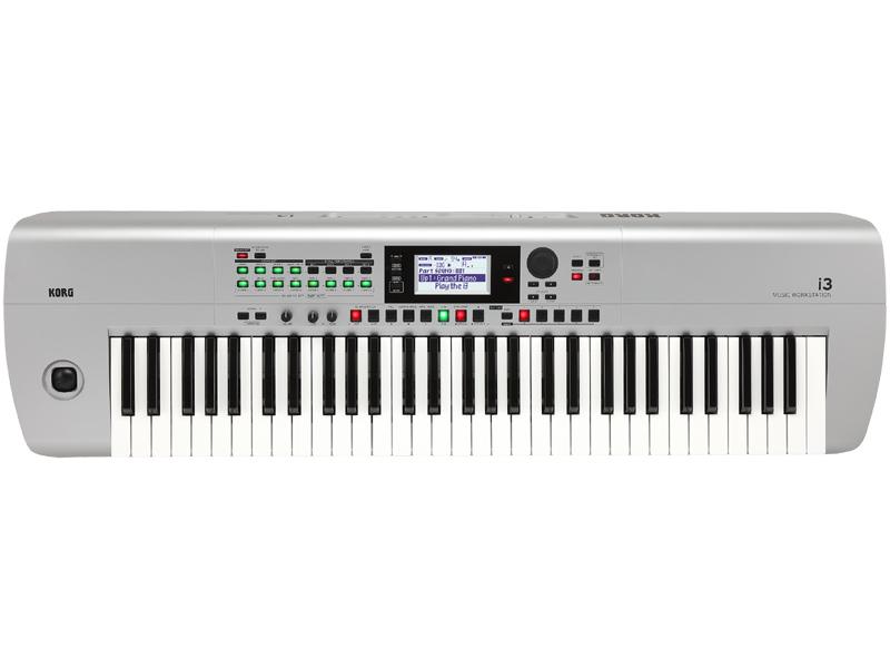 KORG i3 -MS (Super Matte Silver)- Music Workstation 新品 ワークステーション[コルグ][シルバー][Keyboard,電子ピアノ,キーボード]