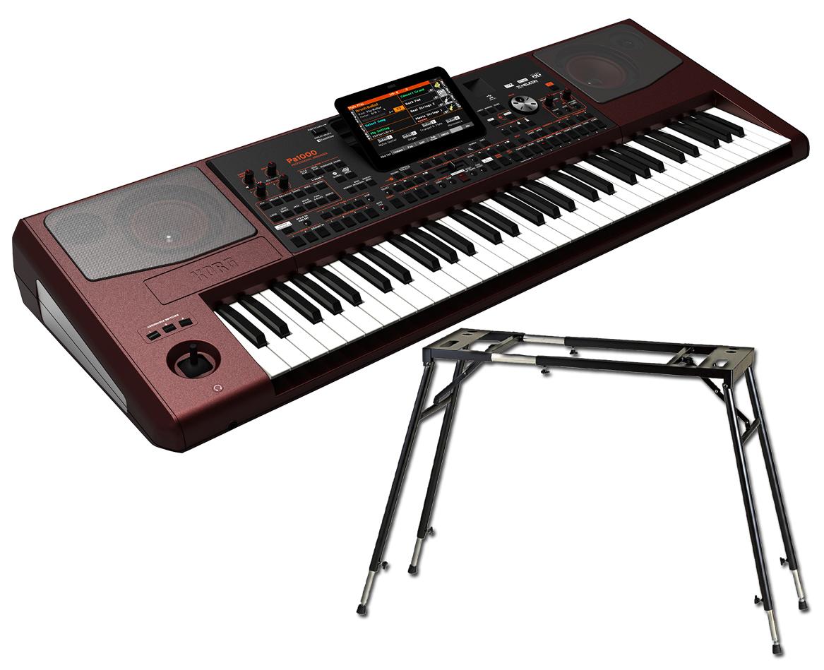 KORG Pa1000 《スタンド付き!》 Professional Arranger 新品 アレンジャーキーボード[コルグ][61鍵盤][Keyboard,Piano,ピアノ][Pa-1000][SC-Pa600/900][動画]