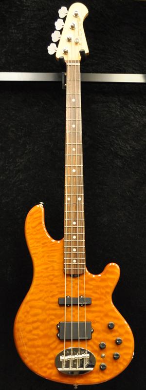 Lakland Skyline SK-4 Deluxe Amber Translucent/R 新品[レイクランド][スカイライン][アンバー,オレンジ][Active,アクティブ][Electric Bass,エレキベース]