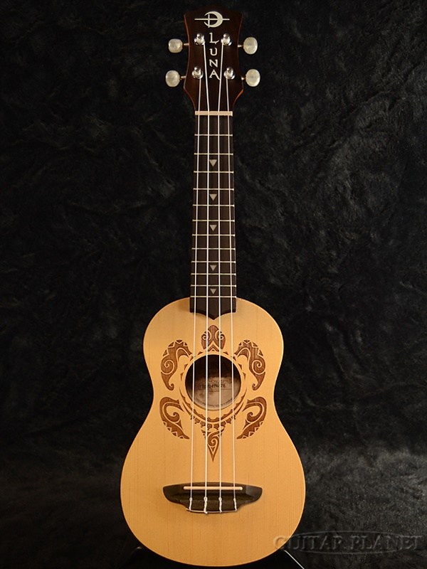 Luna Guitars UKE HONU Spruce Top 新品 ソプラノウクレレ[ルナ][Spruce,スプルース][Soprano Ukulele]
