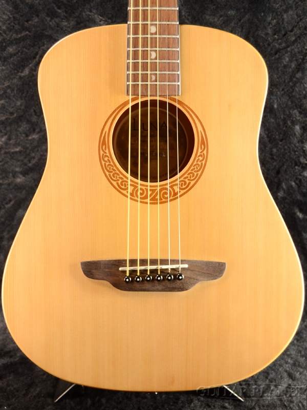 Luna SAF PK 新品 ナチュラル[ルナ][サファリ][ヘナ,羽][Safari Henna][Natural][Spruce][Mini Guitar,ミニギター][アコギ,アコースティックギター,Acoustic Guitar]