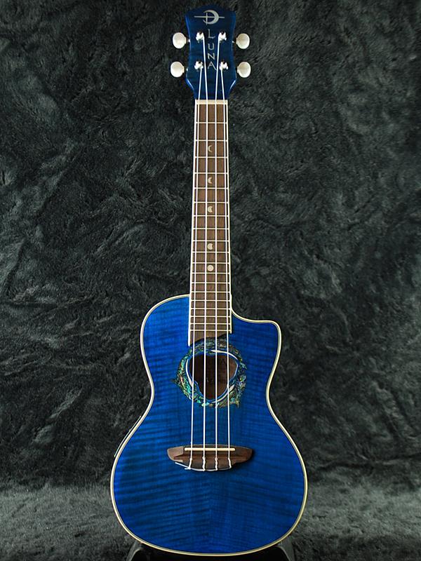 Luna UKE DPN DOLPHIN CONCERT 新品 コンサートウクレレ[ルナ][ドルフィン][Blue,青,ブルー][Ukulele]