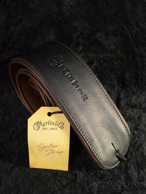 Martin Premium Rolled Leather Strap #18A0029 Black レザーストラップ[マーチン][革][ギター/ベース用]