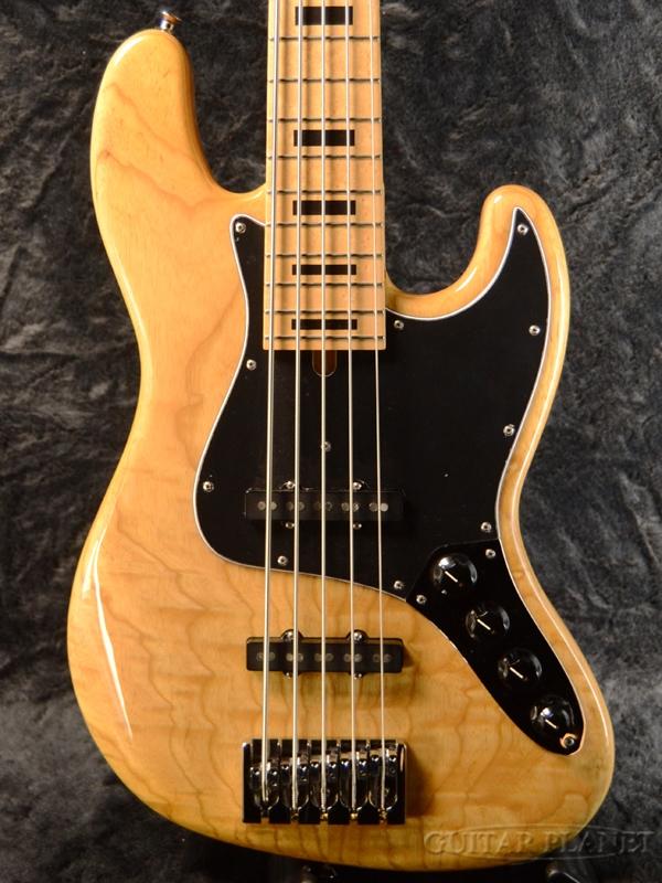 Mike Lull M5V-34 -Natural- w/ Black Block Position Mark Ash Body / Maple Fingerboard 新品[マイクルル][ナチュラル][5strings,5弦][Jazz Bass,ジャズベースタイプ][Electric Bass,エレキベース]