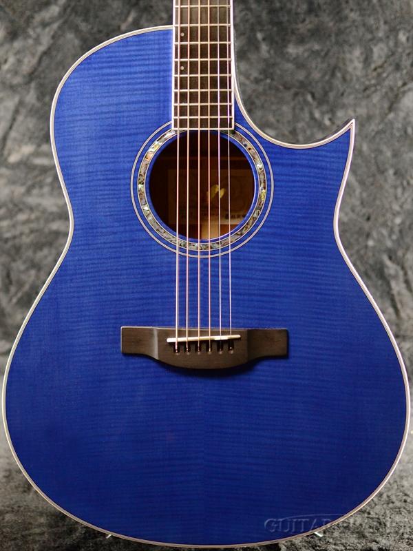Morris Handmade Premium Series TC-16 -See-through Blue(SBU)- 新品[モーリス][シースルーブルー,青][エレアコ][Acoustic Guitar,アコースティックギター,Folk Guitar,フォークギター,アコギ][TC16]