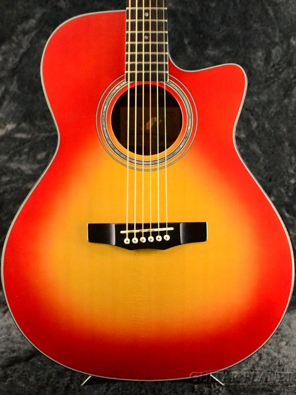 Morris Handmade Premium Series R-14 CS 新品[モーリス][国産][ピックアップ搭載] [Cherry Sunburst,チェリーサンバースト,赤][Acoustic Guitar,アコースティックギター,アコギ,Folk Guitar,フォークギター,エレアコ]