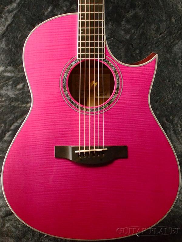 Morris Handmade Premium Series TC-16 -See-through Pink(SPK)- 新品[モーリス][シースルーピンク][エレアコ][Acoustic Guitar,アコースティックギター,Folk Guitar,フォークギター,アコギ][TC16]