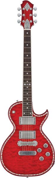Zemaitis A24SU FLARE 新品[ゼマイティス][Red,レッド,赤][Quilted Maple,キルトメイプル][Les Paul,レスポールタイプ][Electric Guitar,エレキギター]