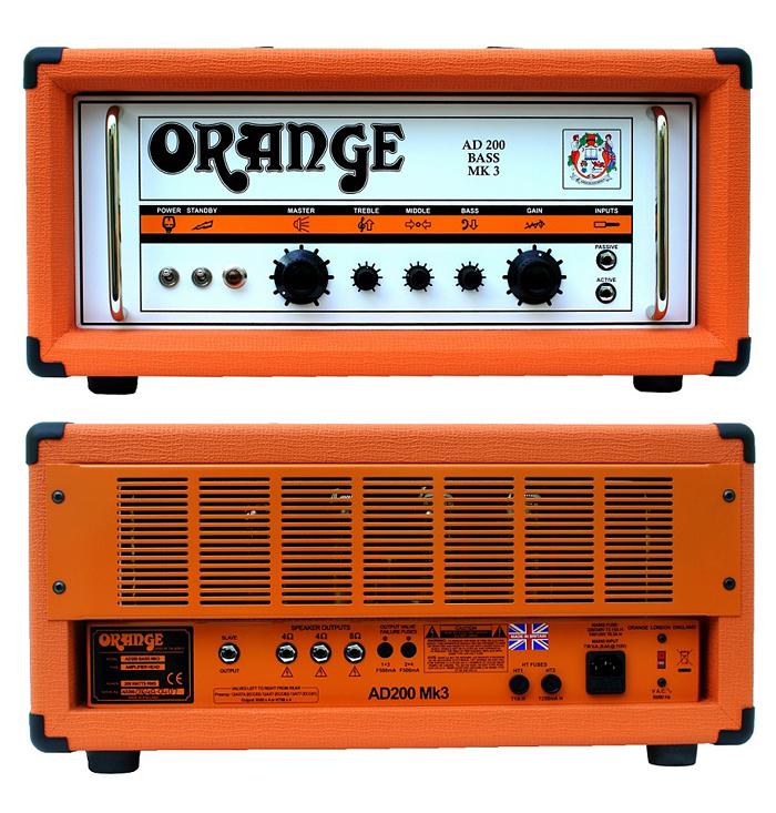 Head] ベース用アンプヘッド[オレンジ][クラスAB][Bass 【200W】Orange Amplifier MKIII AD200B 新品