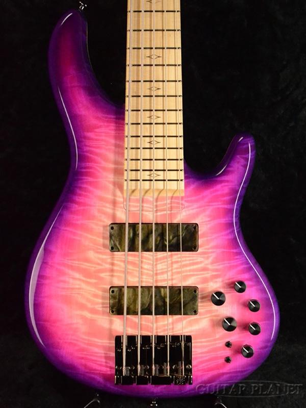 【1本物!!カスタムカラー!!】STR LS549 -Custom Burst- 新品[国産][5strings,5弦][Pink,ピンク,紫][Electric Bass,エレキベース]