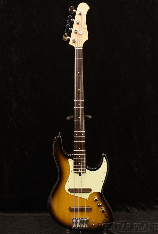 XOTiC XJ-1T 4st -2Tone Sunburst- Alder/Rose 新品[エキゾチック][国産][2トーンサンバースト][JB,ジャズベースタイプ][Electric Bass,エレキベース]