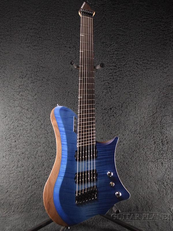 【7月限定大特価!!】C.GIG Y-REF Single Cut -Blue Denim Design- 新品[Cギグ][ブルーデニム,青][シングルカッタウェイ][7strings,7弦][ヘッドレスタイプ][Electric Guitar,エレキギター]