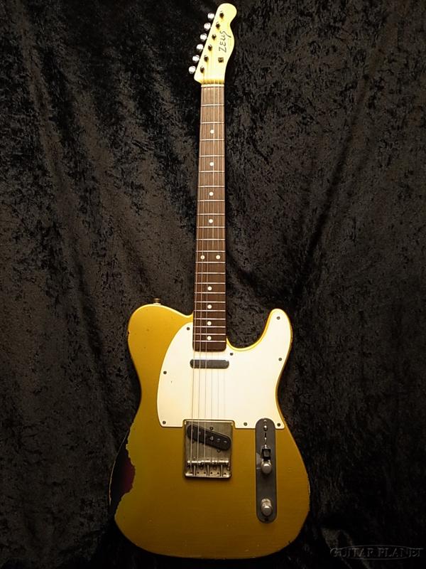 Zeus Custom Guitars ZTL-CUSTOM Relic 新品[ゼウスカスタムギターズ][国産][Telecaster,TL,テレキャスタータイプ][Gold,ゴールド][Electric Guitar,エレキギター]