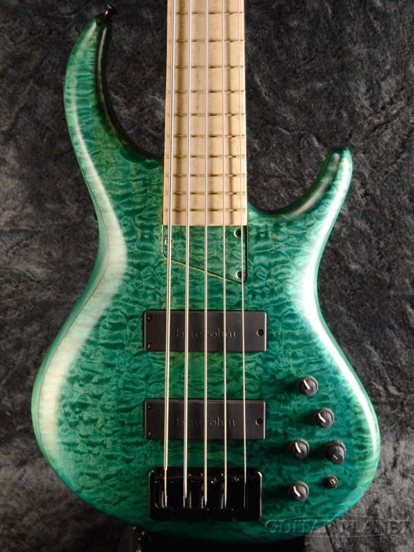 MTD 534 - Quilted Maple Top/Alder Back - Turquoise 新品[エムティーディー][キルテッドメイプル][ターコイズ][5strings,5弦][Electric Bass,エレキベース]