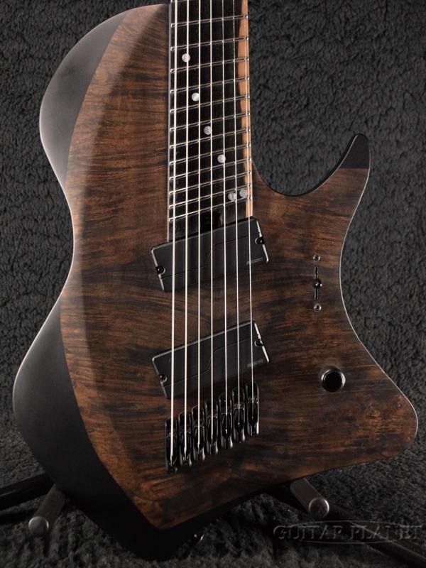 ABASI Guitars 8 Straight Scale(Straight Fret) FRT Burl Maple Satin Black/Maple 新品[アバシギターズ][ストレートスケール][8strings,8弦][サテンブラック,黒][Electric Guitar,エレキギター]
