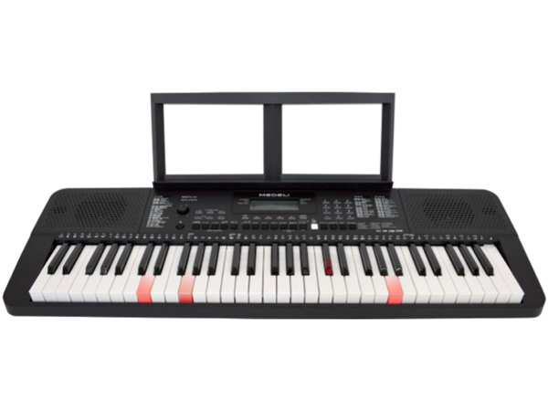 MEDELI M221L [J] 新品 キーボード[光る][61鍵盤][Black,ブラック,黒][Keyboard,Digital Piano,電子ピアノ,デジタル,エレピ]