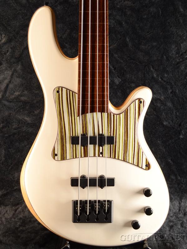 Franz Merak 4Strings Fretless -Europian Maple Top- 新品[フランズ][ドイツ製][White,ホワイト,白][フレットレス][Electric Bass,エレキベース]