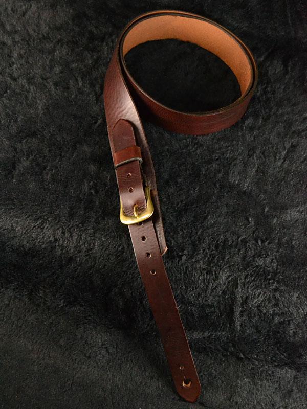 Bear Straps Slimline Classic Brown / Brass 新品 [ベアストラップ][ブラウン,ゴールド][Leather Strap,レザーストラップ,革][ギター/ベース用]