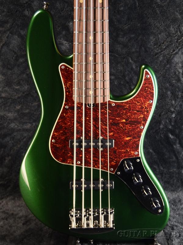 Valenti V21-J5 -Sherwood Green/MH- 新品[ヴァレンティ][Active,アクティブ][シャーウッドグリーン,緑][5strings,5弦][Jazz Bass,JB,ジャズベースタイプ][Electric Bass,エレキベース]