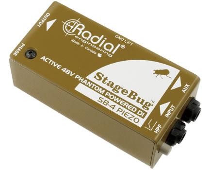 Radial StageBug SB-4 Piezo 新品 ピエゾPU専用DIボックス[ラディアル,ラジアル][SB4][Direct Injection Box,ダイレクトボックス]