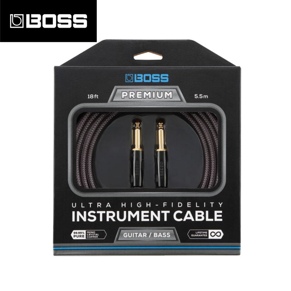 BOSS BIC-P18 5.5m ストレートプラグ 新品 [ボス][Instrument Cable,シールド][SS,S/S][楽器用ケーブル,Guitar,Bass,ギター,ベース]