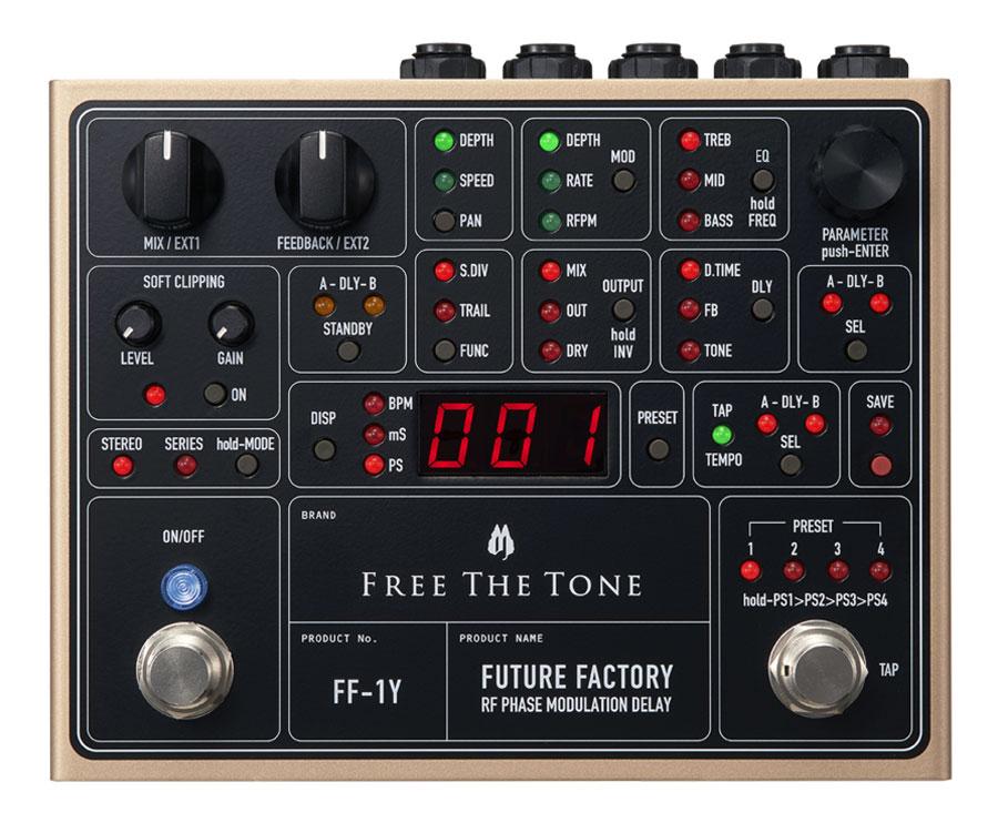 Free The Tone FF-1Y 新品 モジュレーション/デジタルディレイ[フリーザトーン][Future Factory,フューチャーファクトリー][Modulation][Digital Delay][Effector,エフェクター]